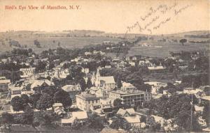 Marathon New York Birdseye View Of City Antique Postcard K104762