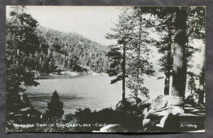 dc85 - BIG BEAR LAKE Ca 1950s Near The Dam Real Photo Postcard