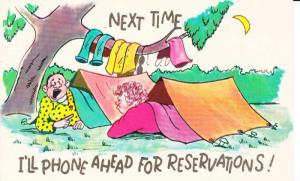 Comic: Couple Sleeping in Tents on Vacation, Next Time I'll Phone Ahead for ...