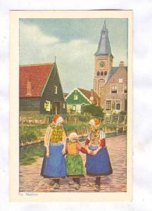 Three Girls Walking, Op Marken, North Holland, Netherlands, 1900-1910s