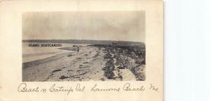 LARAMIE BEACH, MAINE ISLAND BEACH-1920'S ERA RPPC REAL PHOTO POSTCARD