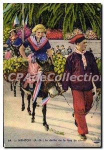 Old Postcard Menton parade De La Fete Du Lemon