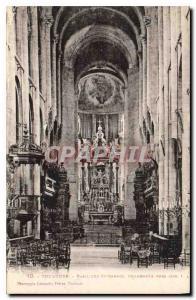 Postcard Old Toulouse St Sernin Basilica Shops Towards 1020