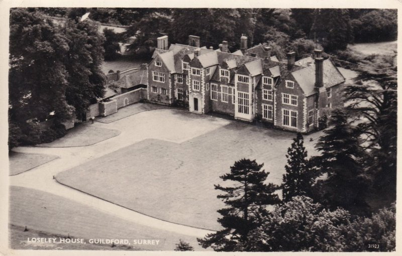 Loseley House Guildford Surrey Spectacular RPC Aerial Postcard