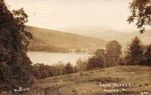 LP46   Fairlee Vermont Vintage Postcard Lake Morey Club RPPC