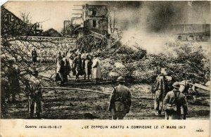 CPA AK COMPIEGNE Zeppelin abattu (864984)