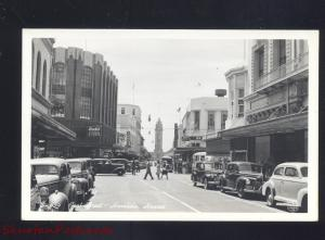 RPPC HONOLULU HAWAII DOWNTOWN STREET SCENE 1940's CARS REAL PHOTO POSTCARD