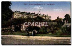 Old Postcard Metz Brunnenanfagen an der Esplanade