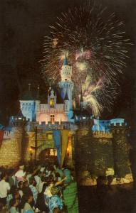CA - Anaheim. Disneyland. Fireworks over the Castle