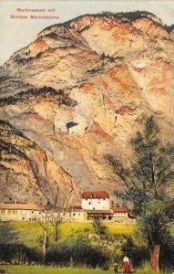 Martinswand mit Schloss Martinsbühel, Zirl, Austria c1910s Vintage Postcard