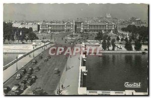 Old Postcard Paris General view of the Place de la Concorde