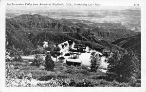 San Bernardino CA~Arrowhead Highlands~Lee's Place Garage~Tract Office~1952 B&W