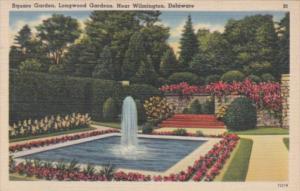 Delaware Wilmington Square Garden At Longwood Gardens 1953