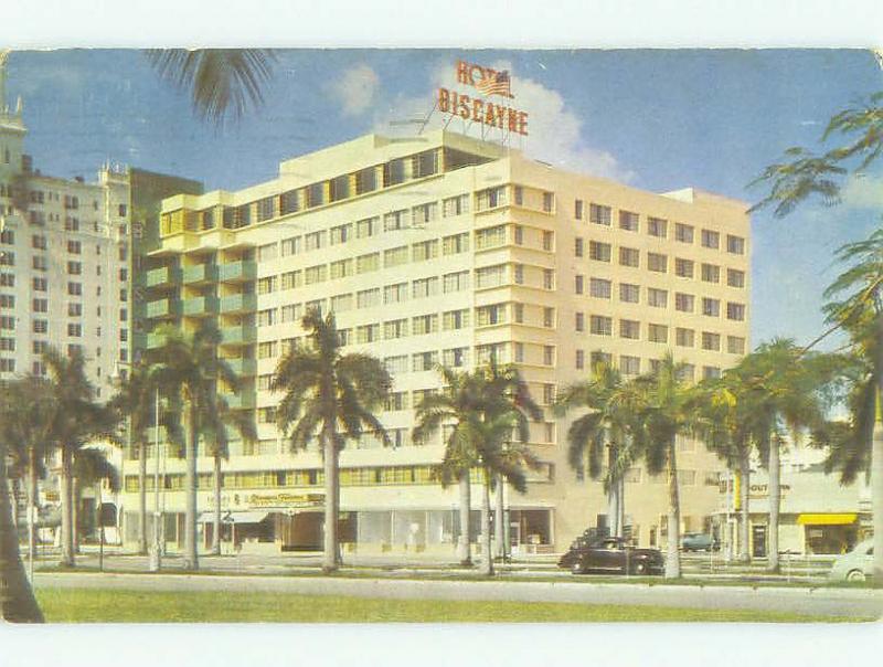 Pre-1980 BISCAYNE HOTEL Miami Florida FL HQ0978