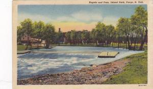 Rapids and Dam, Island Park, Fargo, North Dakota, 1930-1940s