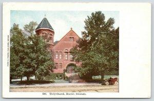 Denver Colorado~Unity Church~Vintage Auto Under Tree~c1907 Frank S Thayer Pub