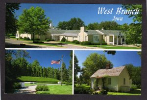IA President Herbert Hoover Library West Branch Iowa Museum Grave Site Postcard