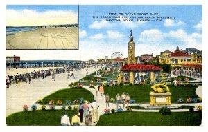 FL - Daytona Beach. Ocean Front Park, the Boardwalk & Beach Speedway