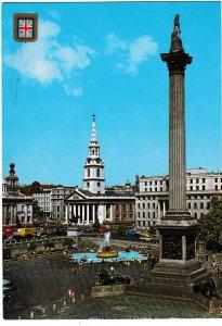 Postcard London Nelson's Column and Trafalgar Square