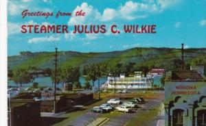 Greetings From The Steamer Julius C Wilkie Winona Minnesota 1961