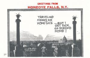 Greetings from Honeoye Falls NY, New York - Homesick - Village Print Humor