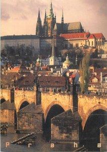 Postcard Charles Bridge and Prague Castle Czech Republic