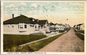 Centre Street Looking North Frackville PA New Homes c1929 Vintage Postcard O26