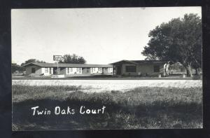 RPPC SABINAL TEXAS TWIN OAKS COURT MOTEL ADVERTISING REAL PHOTO POSTCARD