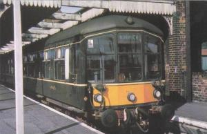 Diesel Multiple Unit in Green Livery Leaving Wells-on-Sea Station