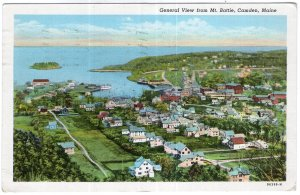 Camden, Maine, General View from Mt. Battie