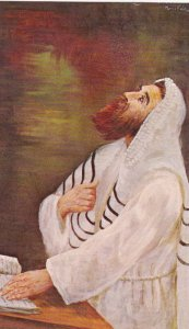 Jewish New Year , Rabbi in prayer , 1969 ; Artist Morris Katz