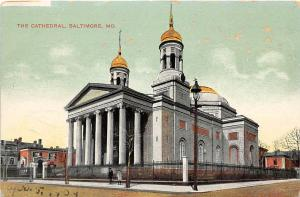 The Cathedral Baltimore Maryland 1910c postcard