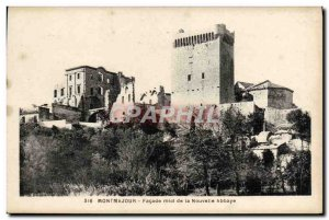 Old Postcard Montmajour Facade south of New Abbey