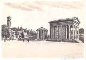 Roma, Rome, Italy - Templi Della Fortuna Virile