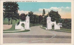 West Virginia Wheeling Entrance To Wheeling Park