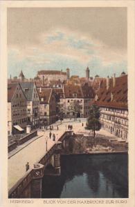 NURNBERG, Bavaria, Germany; Blick VonDer Maxbrucke zur burg, 10-20s