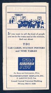 LACKAWANNA Railroad Timetable Newark NJ to Madison NY c1952