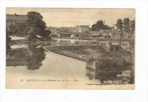 Le Deversoir Sur La Vire, Saint-Lô (Manche), France, PU-1918