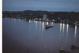 St. John's skyline at night, Newfoundland, Canada,  50-70s