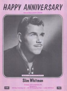 Happy Anniversary Slim Whitman 1970s Sheet Music
