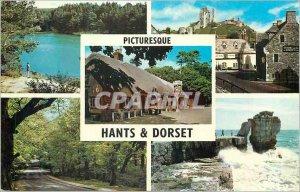 Modern Postcard Picturesque Hants and Dorset The Blue Pool Corfe Castle Cat a...