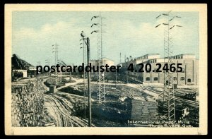 2465 - THREE RIVERS Quebec Postcard 1920s International Paper Mills by PECO