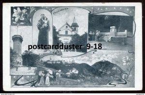 dc1712 - AUSTRIA Kahlenberg 1930s Vienna/ Wien Multiview. Church