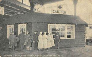 Canteen Service Cincinnati Chapter American Red Cross WWI 1910s Vintage Postcard