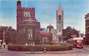 Nashua New Hampshire~Public Library~1st Congregational Church~Lincoln~1950s