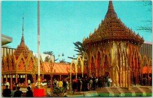 1964 NEW YORK WORLD'S FAIR Expo Postcard THAILAND PAVILION Mondop of Saraburi
