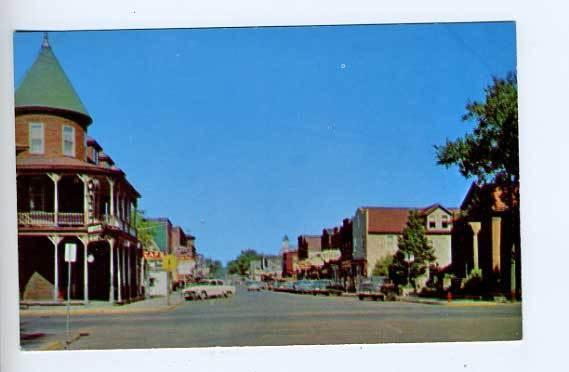Haywood WI Street View Old Cars Postcard
