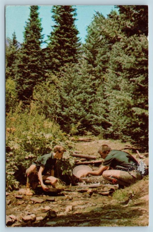 Postcard NM Cimarron Philmont Boy Scout Ranch Explorer Base Gold Panning BSA O02