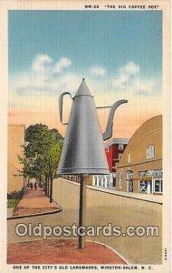 The Big Coffee Pot Winston Salem, NC, USA Unused