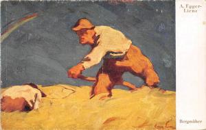 Austria A. Egger-Lienz Signed, Bergmaeher, illustration agriculture